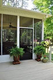 Enamour Decoration Ideas Foxy Image In Screened Front Porch Decoration  Using Large Twin Brown Front Porch