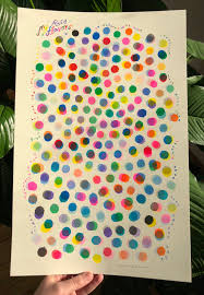 My Riso Flavors Large Poster Sized Color Chart