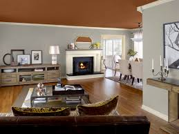 Two Color Living Room Interior Paint Color Ideas Two Color Wall House Decor Picture