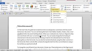 parts of microsoft word 2007 with label fresh how to add page numbers in the top