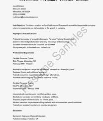 Cover Letter Personal Trainers Resume Beginner Trainerle Template No