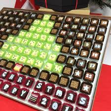 huge chocolate advent calendar to share christmas tree by ...
