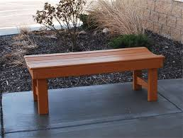 recycled plastic backless garden bench