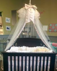 Heirloom Crib Canopy Mauve with Bow