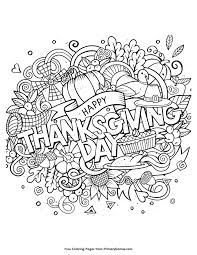Free Thanksgiving Coloring Pages Ebook Happy Day