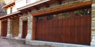 Beautiful Wood Garage Doors With Windows Faux Inside Decor