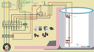 automatic water level control starter connection and working function three phase motor you