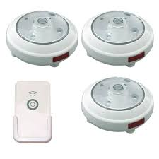 Hampton Bay Xenon Puck Lights Rite Lite Led White Puck Light With Remote 3 Pack
