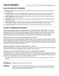 Airport Security Screener Resume