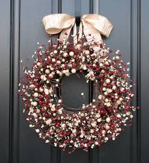 diy red flowers christmas wreaths decoration gray ribbon full size of home office decorating ideas amusing cool diy patio