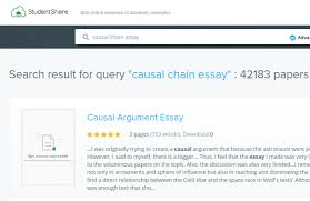 what are some causal chain essay examples quora hey it s easy the search if you search in the right places those are mostly closed websites demanding registration try this one studentshare