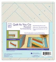 Brewer Sewing - Jakarta - Quilt As You Go Placemats (6) &  Adamdwight.com