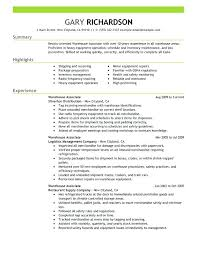 Example Of A Warehouse Resume Warehouse Associate Resume Sample Extraordinary Warehouse Supervisor Resume