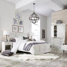 white king bedroom sets. +4. Home Styles Seaside Lodge 5-Piece Hand Rubbed White King Bedroom Set Sets