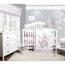 elephant baby girl nursery 6 piece crib bedding set vienna bee