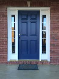 beautiful repainted front door we used sherwin williams resilience exterior acrylic latex paint in indigo