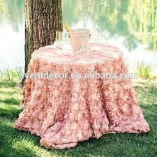 wedding decorative table cloth round rosette for center tablecloth clips