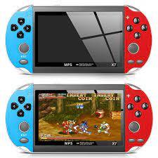 Máy chơi game cầm tay điện tử 4 nút mini X7 nghe nhạc xem phim ebook game  sup per HD screenmanf hình 30fps | SmartHome9x