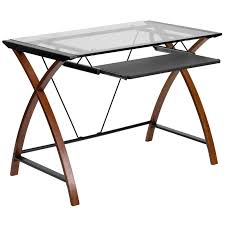 glass desk table tops. Shocking All Glass Desk Contemporary Top Office Table For Style And Concept Tops