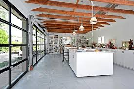 glass garage doors. Art Studio With Glass Roll-up Garage Doors D
