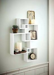decorative floating wall shelf display unit wall decorative shelf generic intersecting squares wall shelf concept