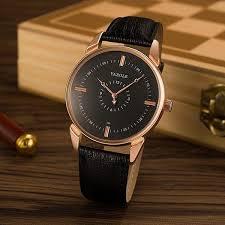yazole 396 male quartz watch luminous leather strap simple men wrist watch no 1 cod