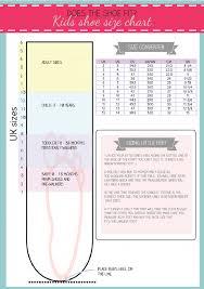 Printable Shoe Size Chart Activity Shelter