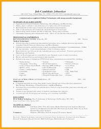 Resume Sample Medical Lab Tech Resume Sample Med Tech Resume