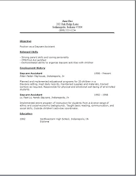 Childcare Resume Examples Orlandomoving Co