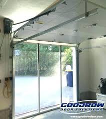 roll garage door inside springs danger low clearance hinges blog headroom
