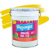 <b>Эмаль Ленинградские краски ПФ-115</b> Фазенда желтая 20 кг ...