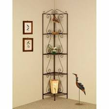 Wrought Iron Corner Shelves