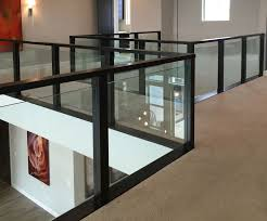 custom designed manufactured modern glass rail systems