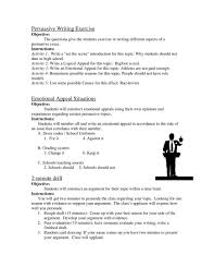 persuasive essay activities pdf flipbook