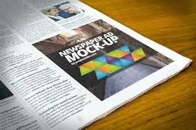 Free Newspaper Advert Mockup Psd Creativetacos