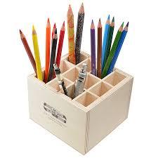 ... Koh-I-Noor 12 Slot Wooden Pen Pot