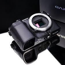 sony nex 7. gariz genuine leather xs-chnex7bk camera metal half case for sony nex7 nex-7 nex 7