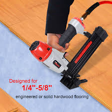 powryte basic 18 gauge 4 in 1 engineered hardwood flooring nailer stapler