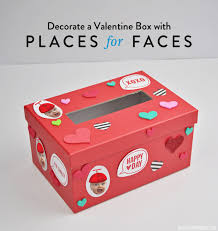 Valentine Box Decorations Decorate a Valentine Box with Places for Faces Vicky Barone 2