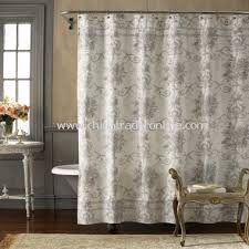 blue and cream shower curtain. brompton fabric shower curtain blue and cream i