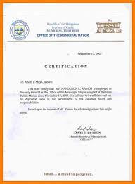 9 Certification Sample Format Farmer Resume