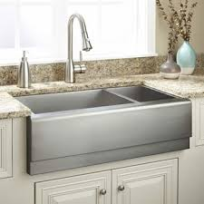 this double basin stainless steel sink is a farmhouse style aka a front with just a touch of modern styling