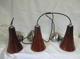 beautiful ceiling pendant lights brown rust with goldstone highlights large vintage fixtures brushed nickle trim set