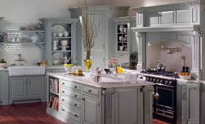 Dark Gray Kitchen Cabinets Farmhouse Island Table Wooden Square Floating Wall Shelves Dark