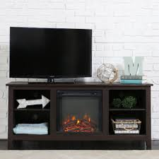 walker edison furniture company essential espresso fire place entertainment center