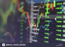 Stock Investment Chart Stock Market Graph Chart With Indicator Investment Trading