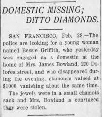 Bowland, Mrs James - Missing Diamonds - Newspapers.com