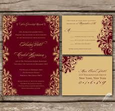 Red And Gold Wedding Invitation Cards Indian Wedding Invitations