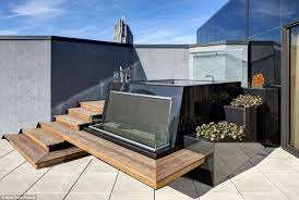 jacuzzi design stairs soil terrace modern outdoor jacuzzi and out of