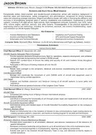 Electrical Resume Samples Avionics And Electrical Maintenance Resume